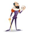 tragic actor theater stage man medieval suit retro