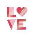 Valentine love I love you red heart vector image vector image