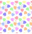 Various colors grunge hearts seamless pattern vector image