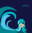 Winter Girl vector image
