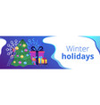 winter holidays concept banner header vector image vector image