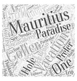 Your Mauritius Vacation Will Be A Golfers Paradise vector image vector image