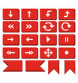 red rounded rectangle arrow button vector image