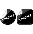 company word on black stickers button set label vector image