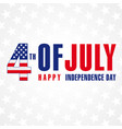 4 july independence day usa banner vector image