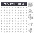 application line icons signs set outline vector image vector image