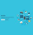 big data and cloud computing banner with icons vector image
