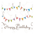 Birthday pattern with flags vector image vector image