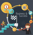 Business Concept Stairway to Success Frame vector image