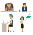 business people office workers in formal clothes vector image vector image