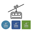 cable railway line icon in different variants vector image vector image