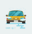 car wash flat design vector image