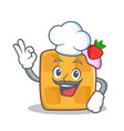Chef waffle character cartoon design vector image