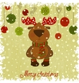 christmas deer whith freezing pattern vector image vector image