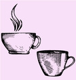 coffee cup tea cup vector image vector image