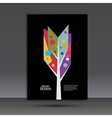 Color abstract tree on dark background vector image