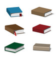 colorful books set vector image