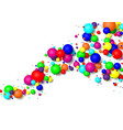 colorful glossy balls background falling spheres vector image vector image