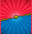 comic book versus template background vector image