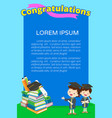 congratulations students poster vector image