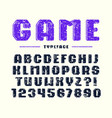 decorative bold sanserif font with rounded corners vector image vector image