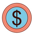 dollar money currency cash icon vector image vector image
