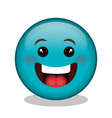 emoticon face character icon vector image vector image