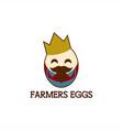 farmers egg king mascot vector image vector image