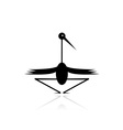 Funny stork black silhouette for your design vector image vector image