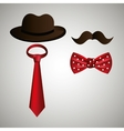 hipster accessories design vector image