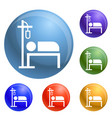 hospital dropper icons set vector image