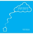 House and cloud poster template vector image