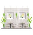 interior scene of modern restaurant vector image vector image