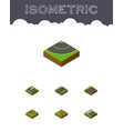 isometric road set of repairs turn turning and vector image vector image