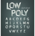 low poly alphabet font vector image vector image
