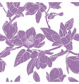 magnolia bouquet seamles pattern vector image