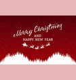 merry christmas card silhouette santa claus vector image