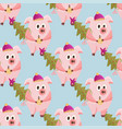 new year 2019 seamless pattern with pigs vector image vector image