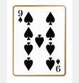 nine spades vector image vector image