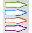 old ink pen nib stickers vector image vector image