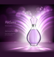 perfume product advertising realistic composition vector image vector image
