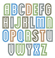 Poster elegant stripy font best for use in poster vector image