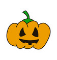 pumpkin hand drawn flat line icon on white vector image vector image