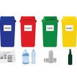 Recycling bins vector image vector image