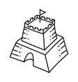 sand castle icon doodle hand drawn or outline vector image vector image