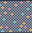 seamless fish scale pattern ornament of repeating vector image