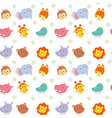 seamless pattern cute wild animal vector image vector image