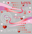 seamless valentines day pattern 6 vector image vector image