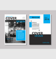 set blue cover and layout brochure flyer vector image vector image