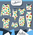 Set of clothes with stylish print donuts Clothing vector image vector image
